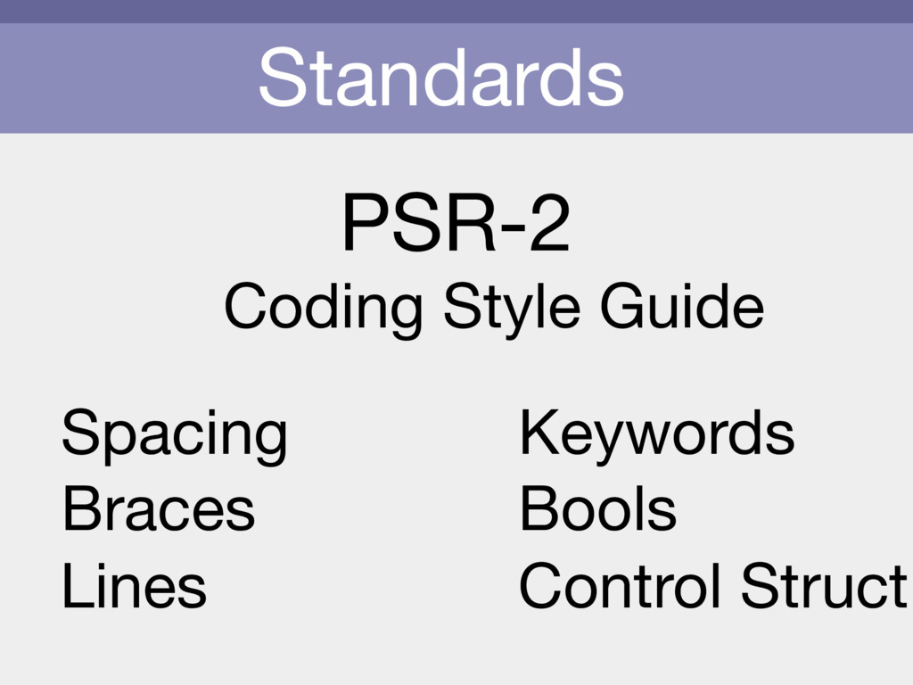 Standards PSR-2 Coding Style Guide Spacing Brac...