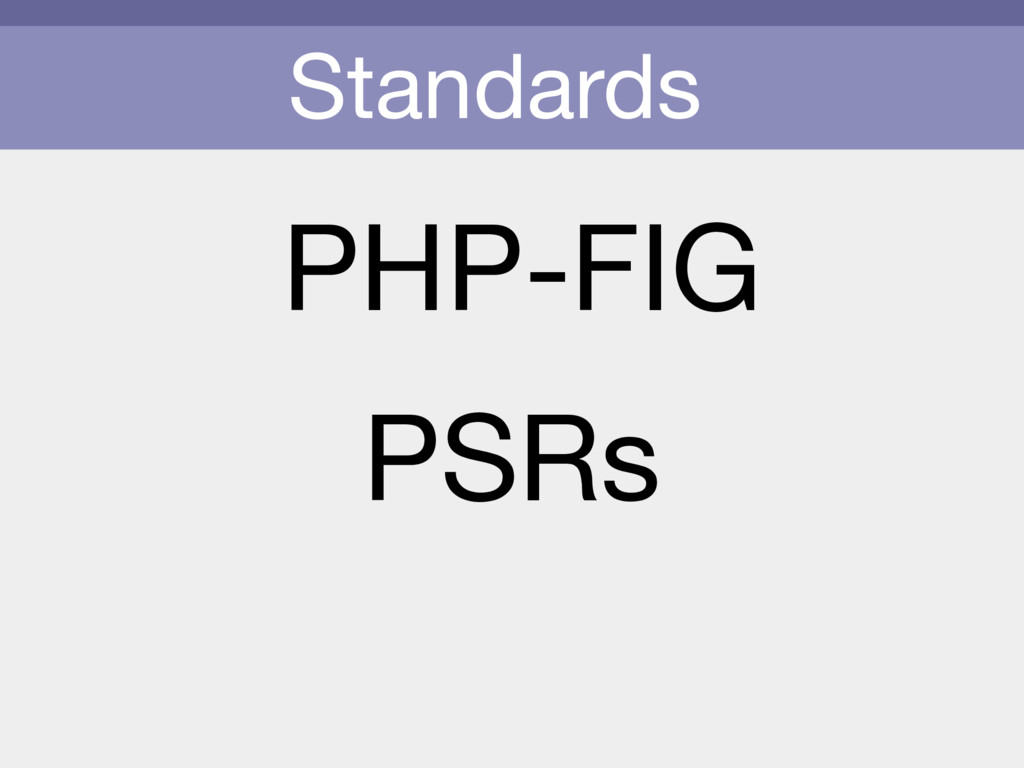 Standards PHP-FIG PSRs