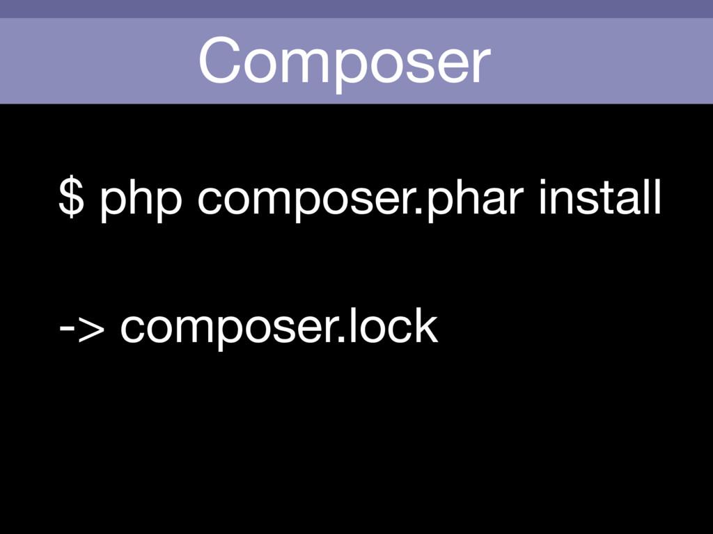 Composer $ php composer.phar install -> compose...