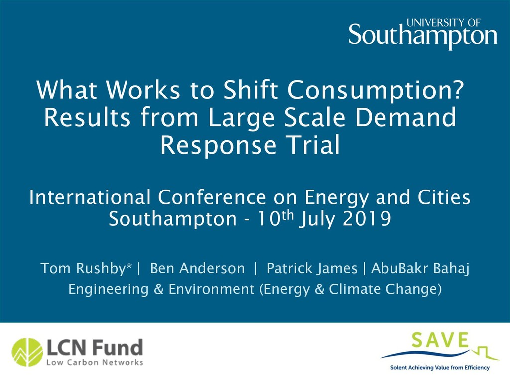 What Works to Shift Consumption? Results from L...