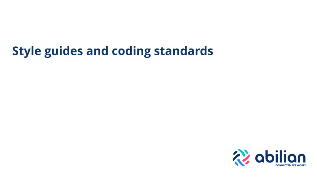 Style guides and coding standards