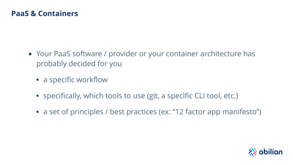 PaaS & Containers • Your PaaS software / provid...
