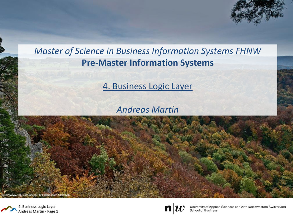 Andreas Martin - Page 1 Master of Science in Bu...