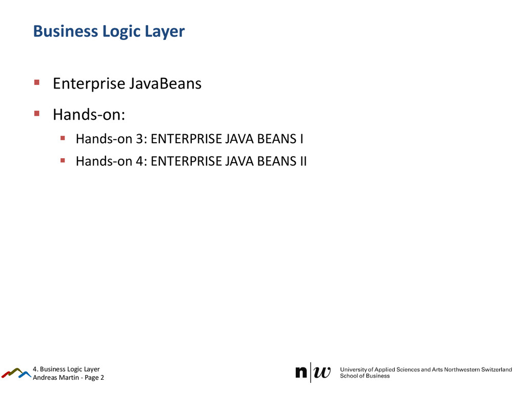 Andreas Martin - Page 2 Business Logic Layer  ...