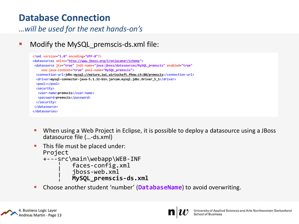 Andreas Martin - Page 13 Database Connection …w...