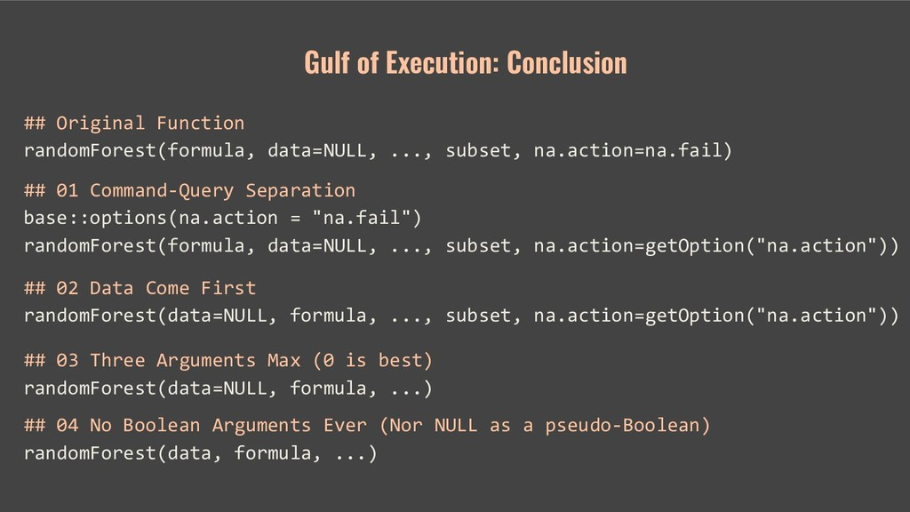 Gulf of Execution: Conclusion ## Original Funct...