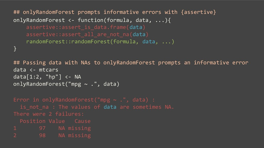 ## onlyRandomForest prompts informative errors ...