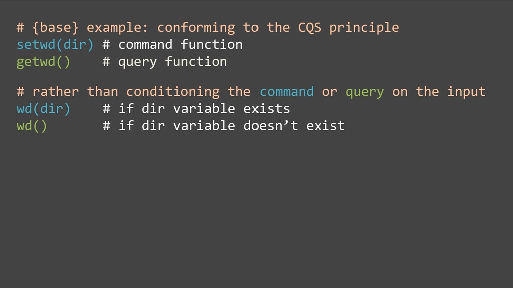 # {base} example: conforming to the CQS princip...