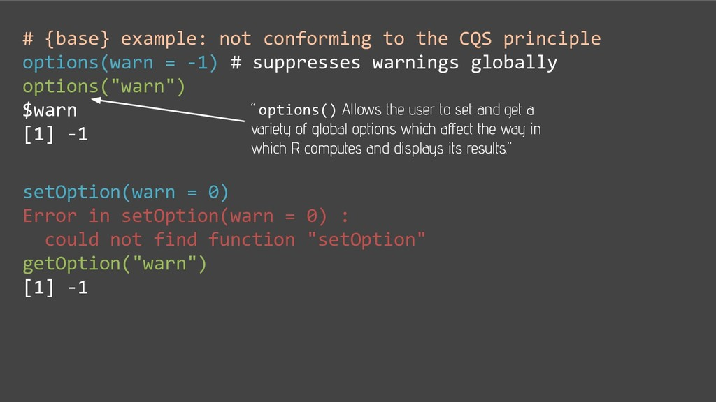 # {base} example: not conforming to the CQS pri...