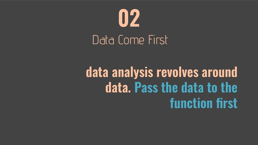 02 data analysis revolves around data. Pass the...