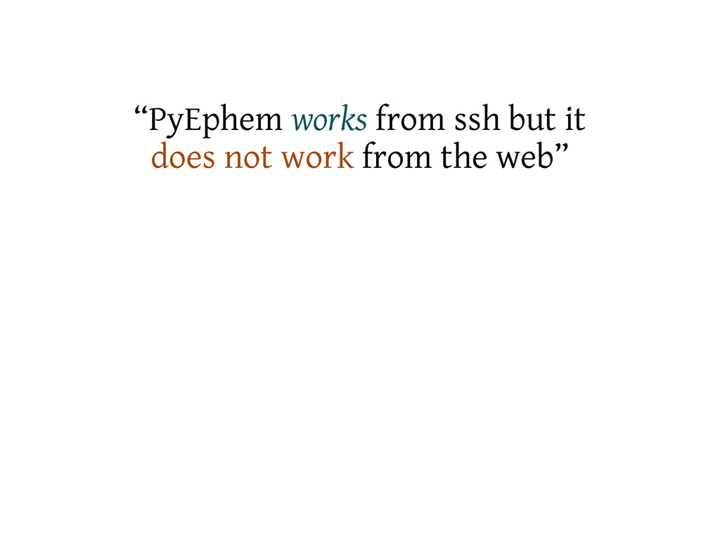 """PyEphem works from ssh but it does not work fr..."