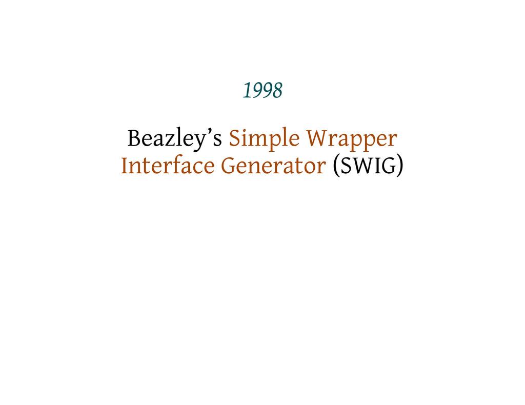 1998 Beazley's Simple Wrapper Interface Generat...