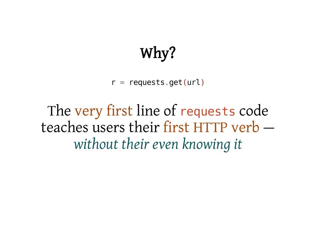 Why? r = r e q u e s t s . g e t ( u r l ) The ...