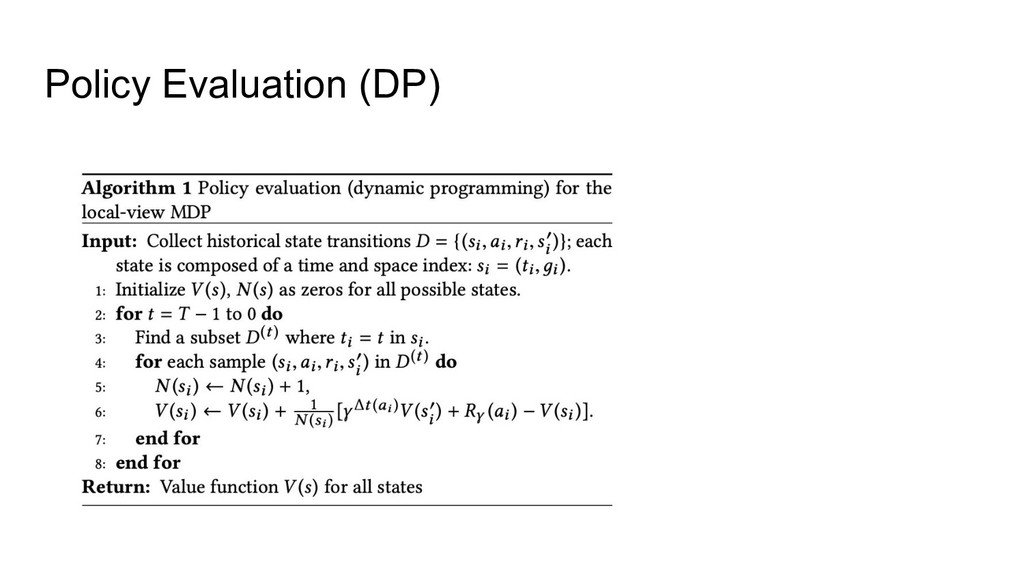 Policy Evaluation (DP)