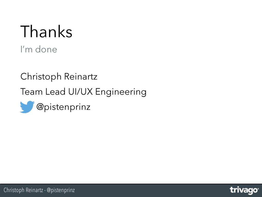 Christoph Reinartz - @pistenprinz Thanks I'm d...