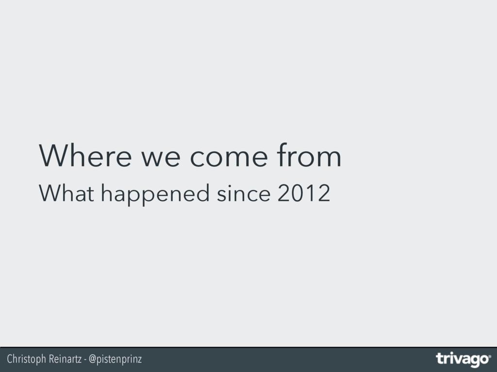 Christoph Reinartz - @pistenprinz Where we come...