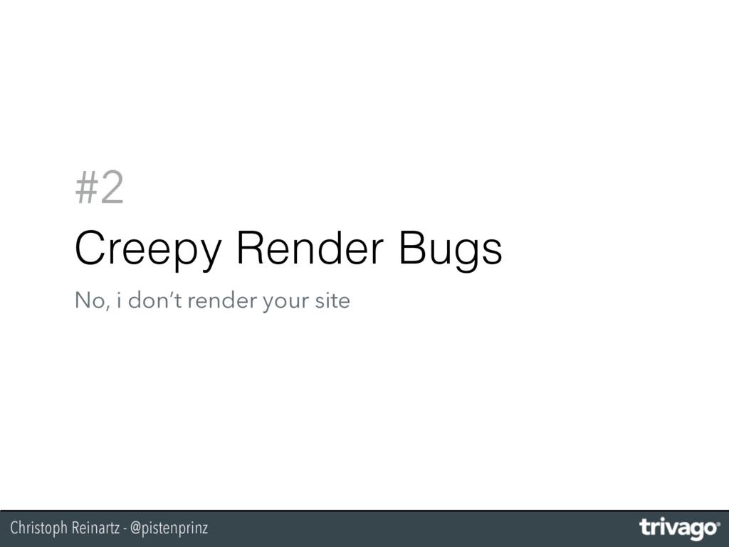 Christoph Reinartz - @pistenprinz #2 Creepy Ren...
