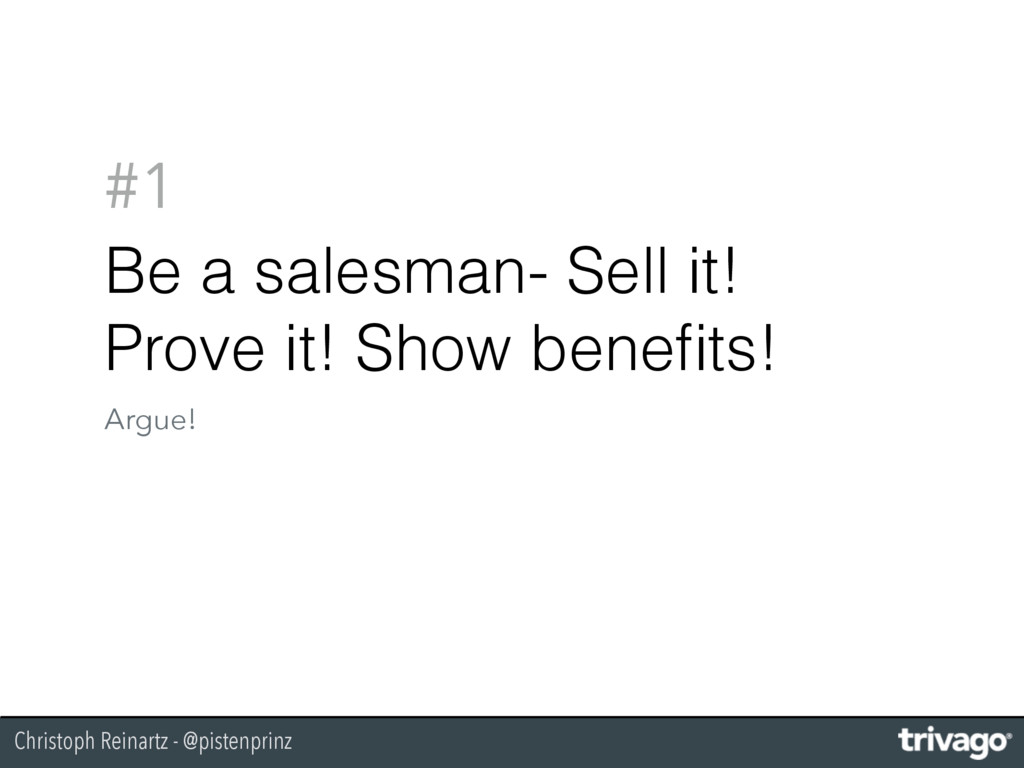 Christoph Reinartz - @pistenprinz #1 Be a sales...