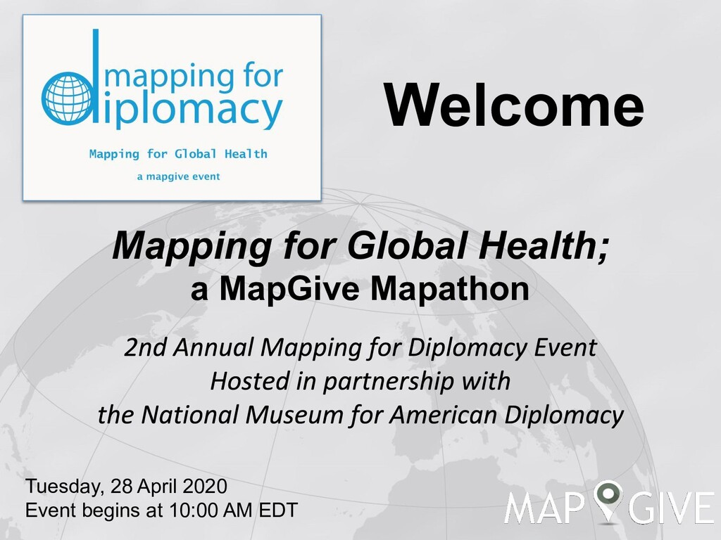 Mapping for Global Health; a MapGive Mapathon T...