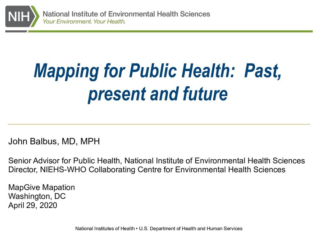 National Institutes of Health • U.S. Department...