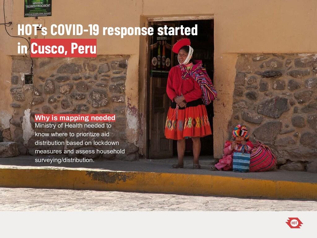 HOT's COVID-19 response started in Cusco, Peru ...