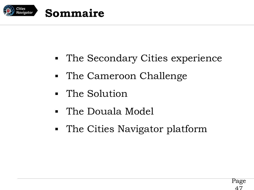 Page ▪ The Secondary Cities experience ▪ The Ca...