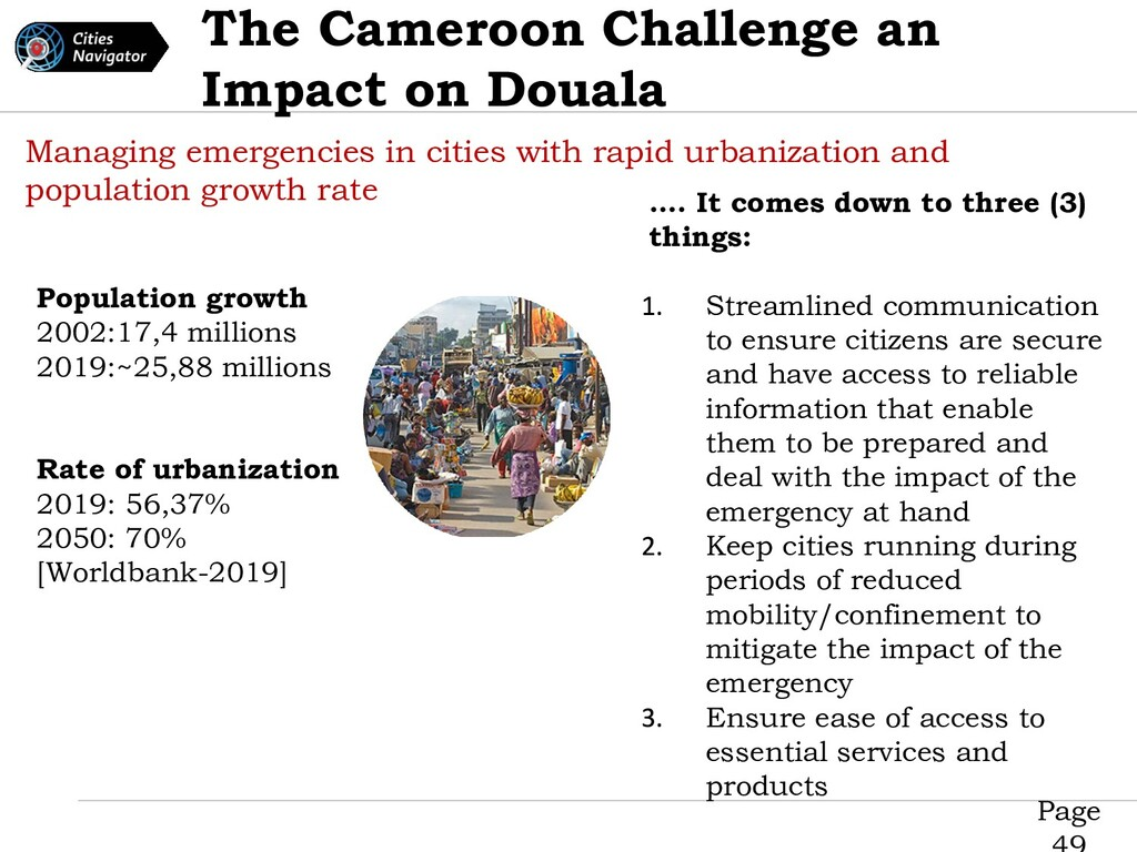 Page The Cameroon Challenge an Impact on Douala...