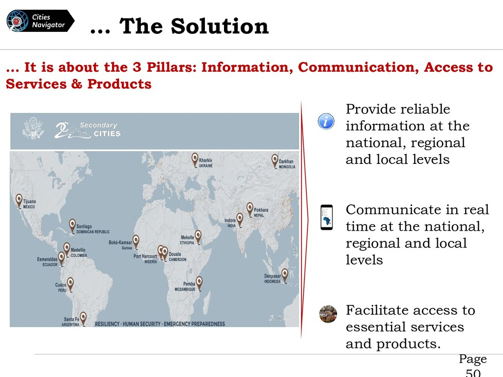 Page … The Solution … It is about the 3 Pillars...