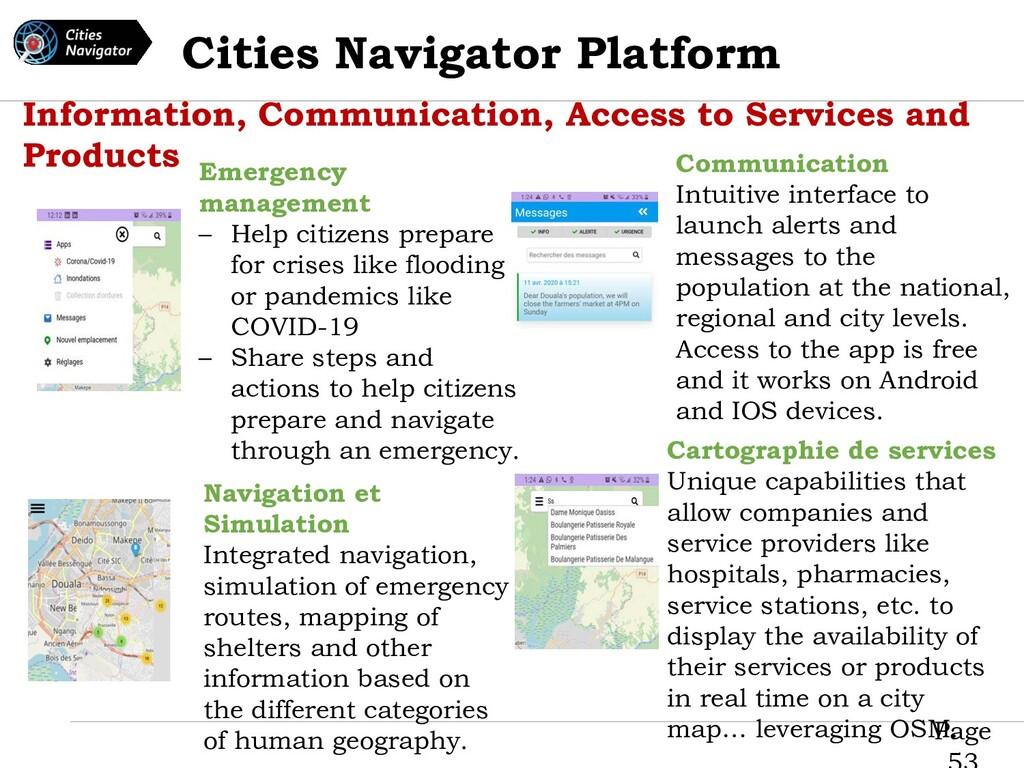 Page Cities Navigator Platform Information, Com...