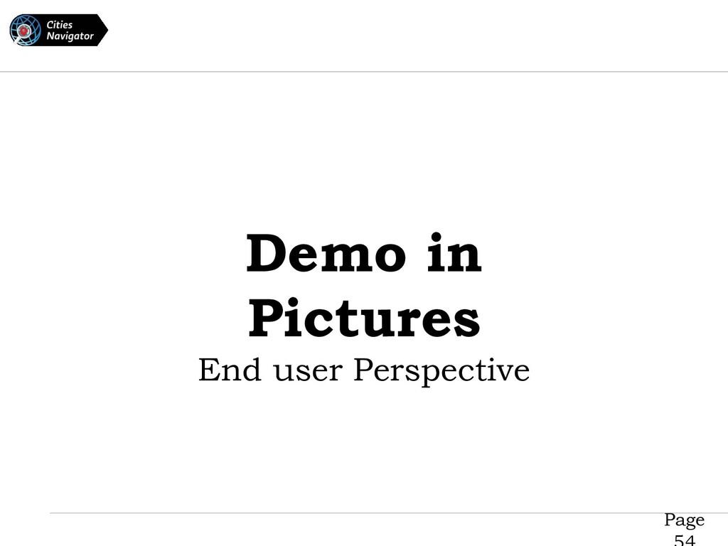 Page Demo in Pictures End user Perspective