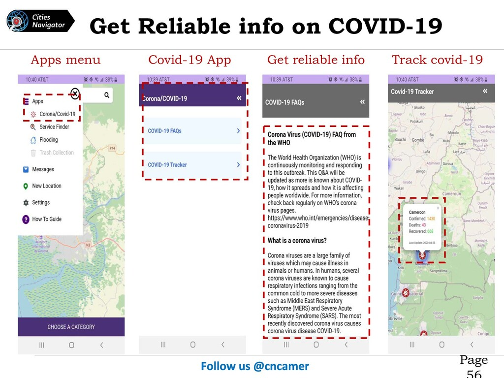 Page Covid-19 App Get reliable info Track covid...