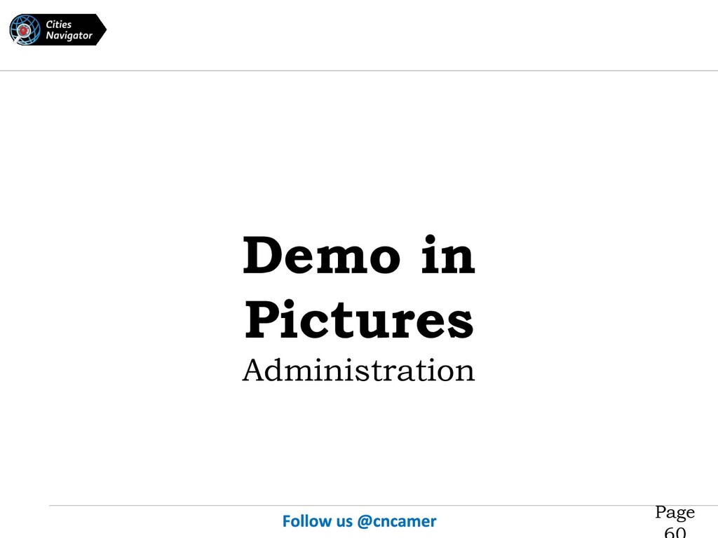 Page Demo in Pictures Administration