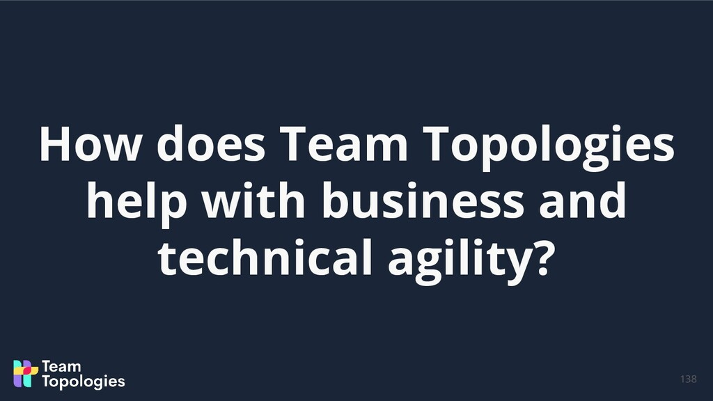 How does Team Topologies help with business and...