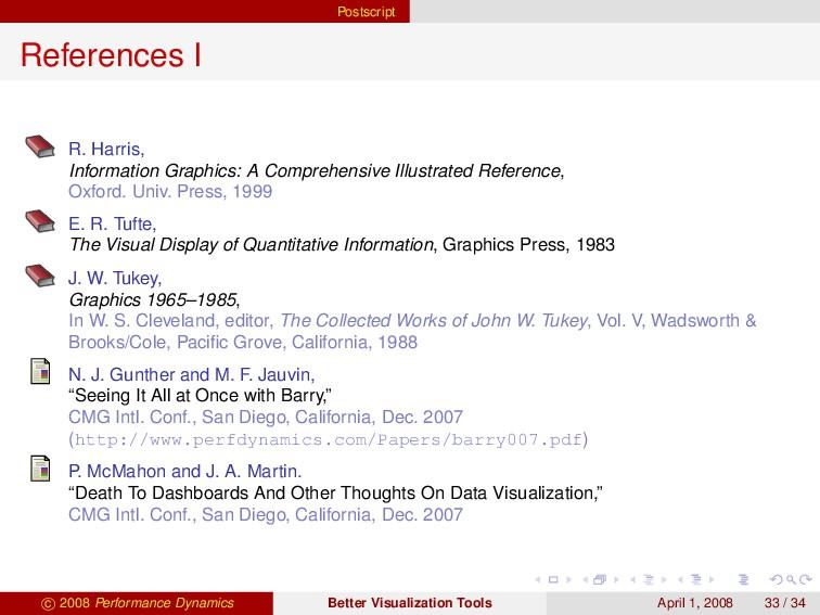 Postscript References I R. Harris, Information ...