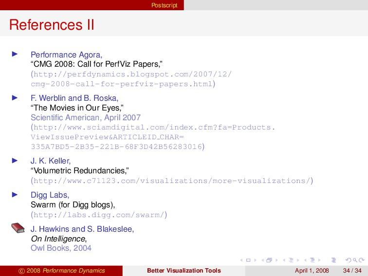 "Postscript References II Performance Agora, ""CM..."