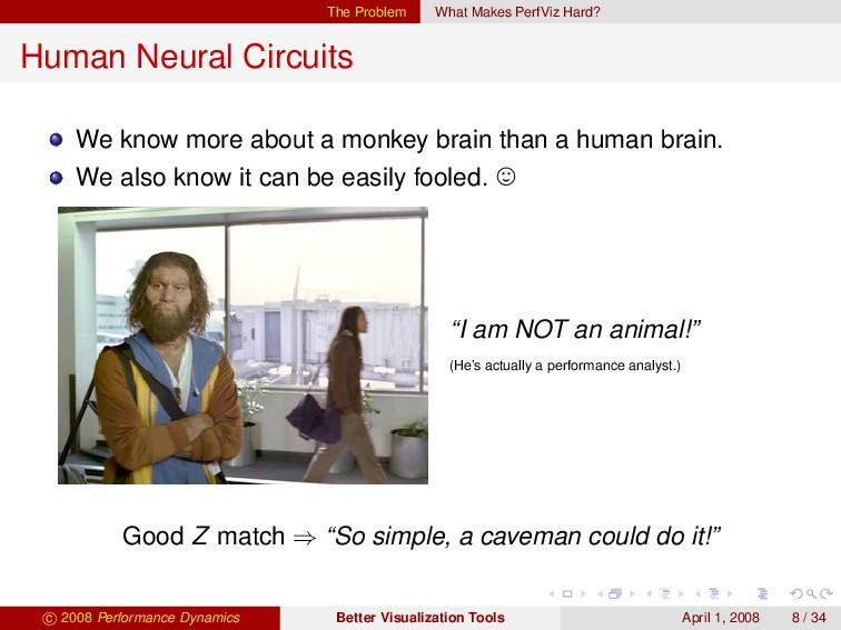 The Problem What Makes PerfViz Hard? Human Neur...
