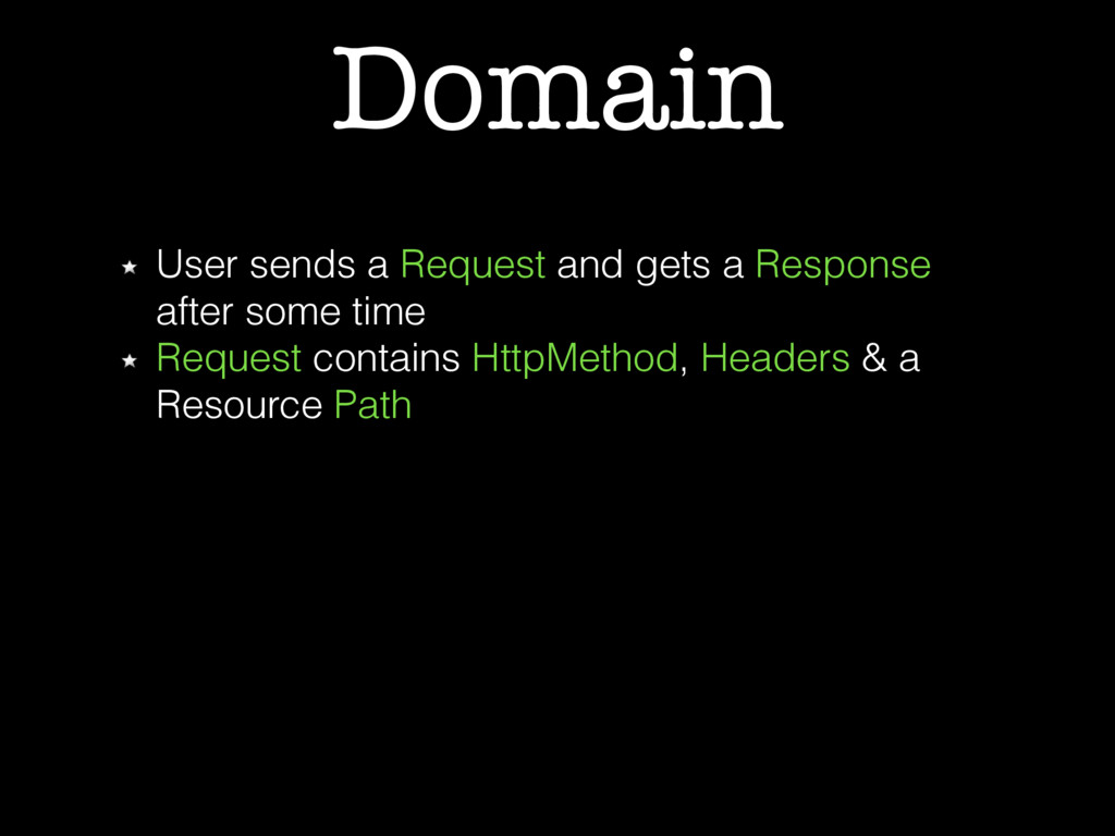 Domain User sends a Request and gets a Response...