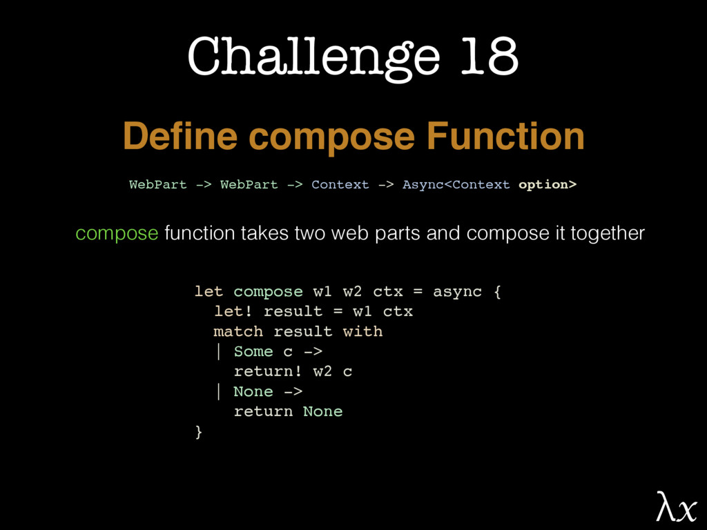 Challenge 18 Define compose Function WebPart -> ...