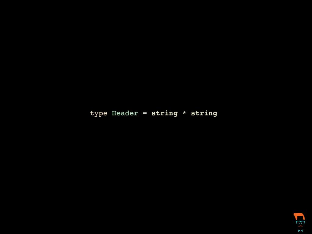 type Header = string * string