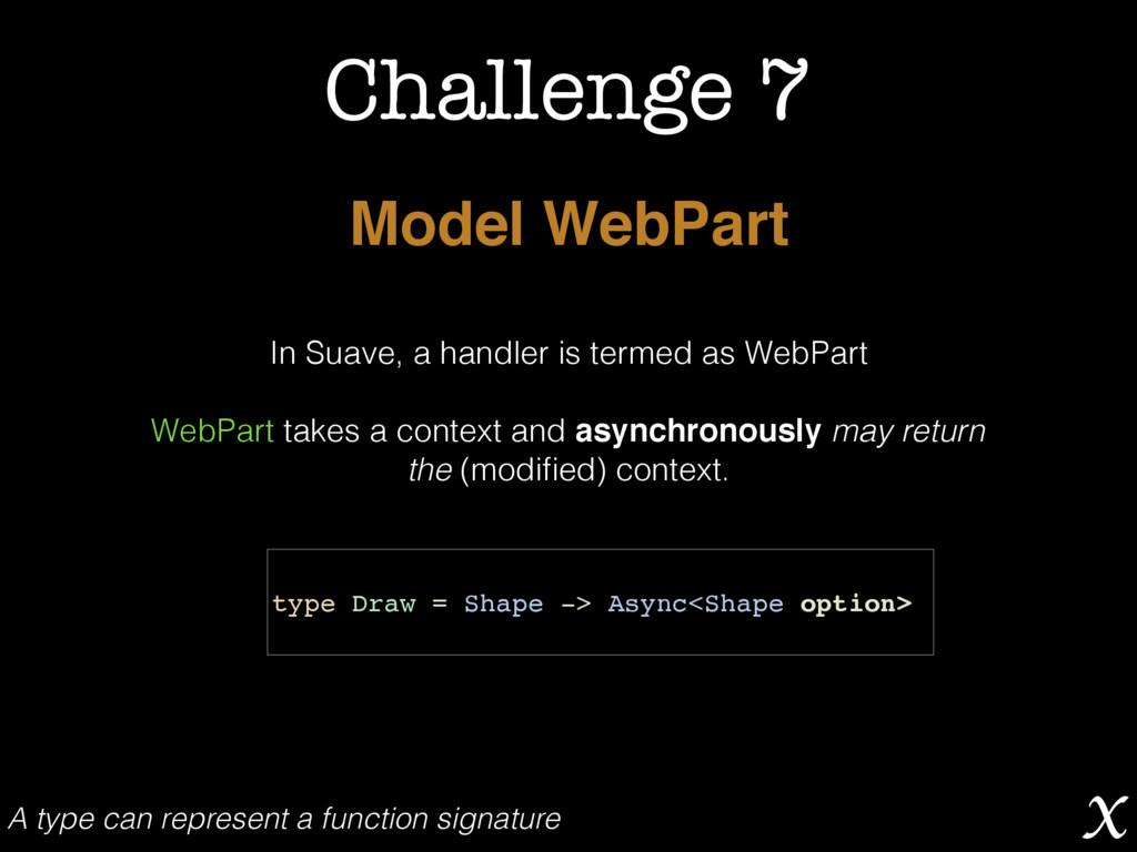 Challenge 7 Model WebPart In Suave, a handler i...
