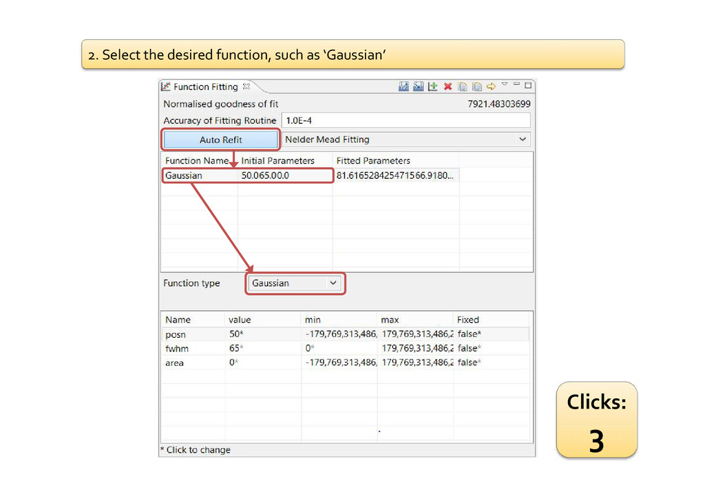 2. Select the desired function, such as 'Gaussi...