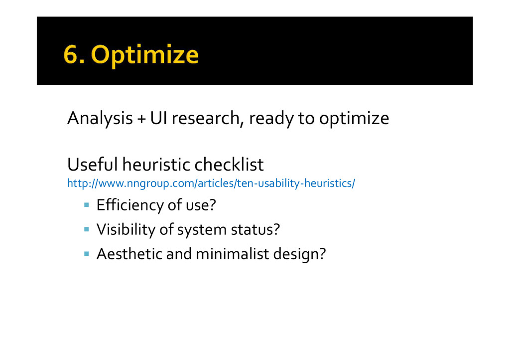 Analysis + UI research, ready to optimize Usefu...