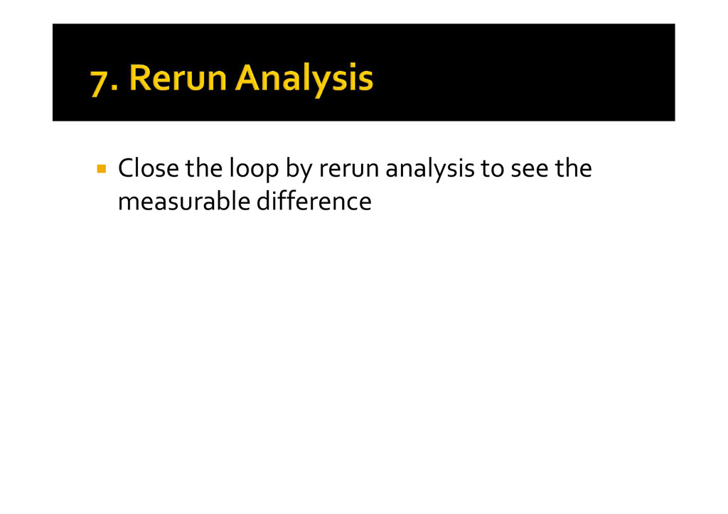  Close the loop by rerun analysis to see the m...