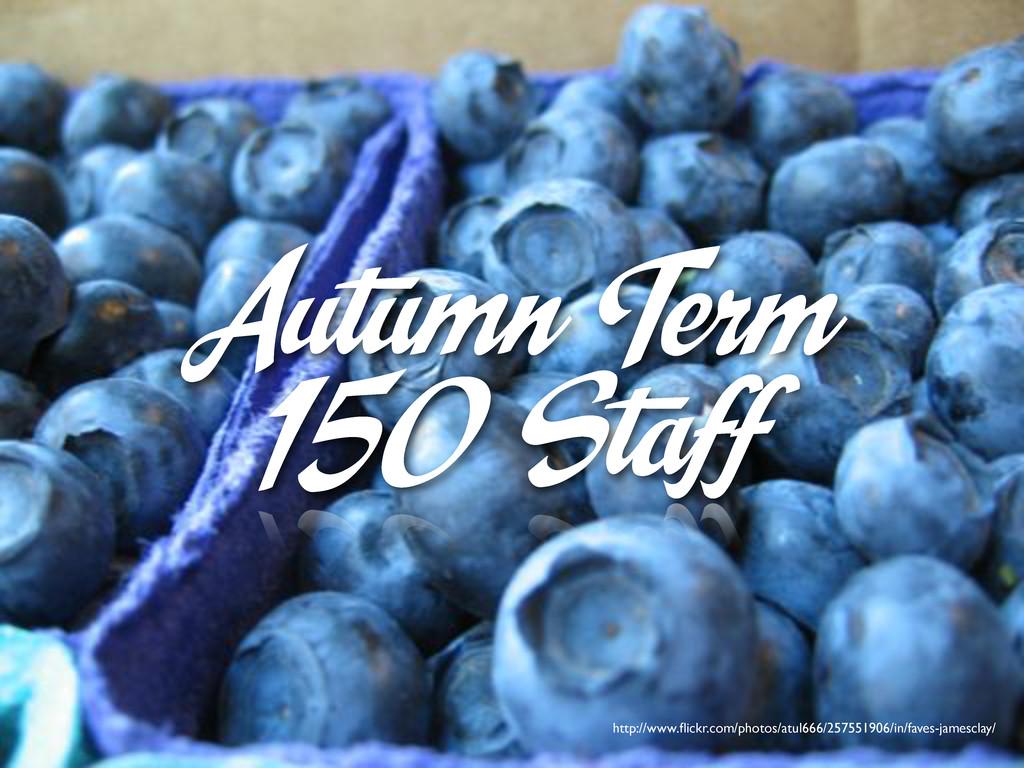 Autumn Term 150 Staff http://www.flickr.com/phot...
