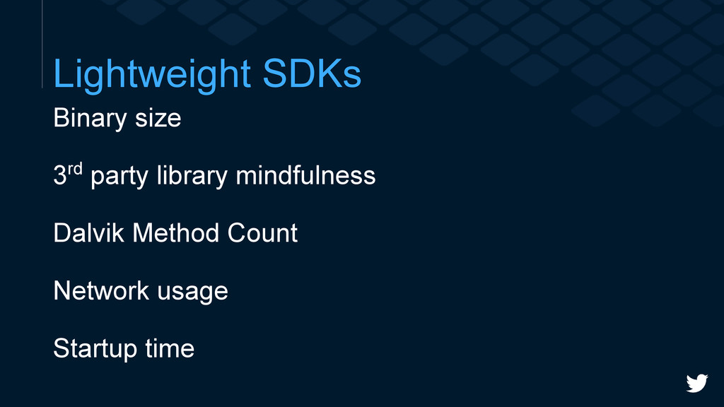Lightweight SDKs Binary size 3rd party library ...