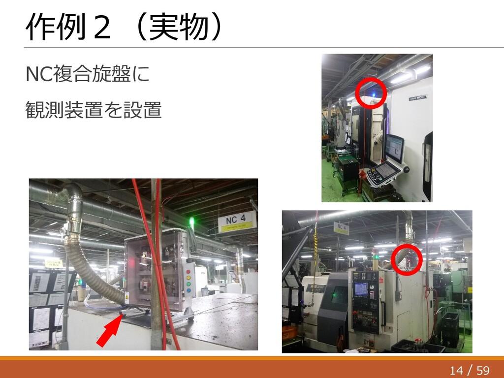 14 59 / 作例2(実物) NC複合旋盤に 観測装置を設置