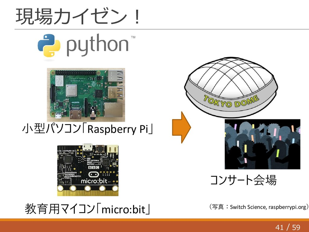 41 59 / 現場カイゼン! 小型パソコン「Raspberry Pi」 コンサート会場 (写...