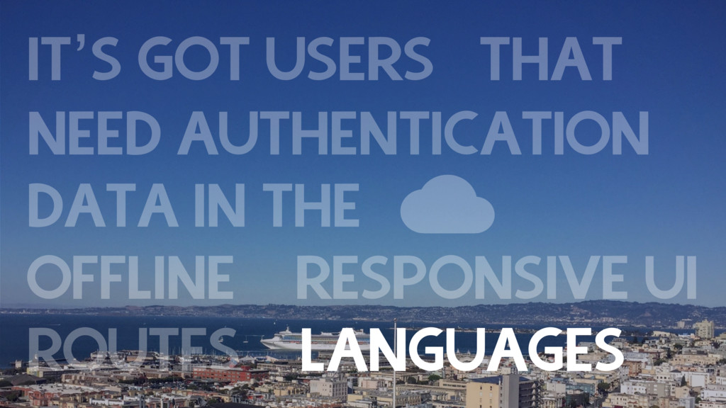 IT'S GOT USERS THAT NEED AUTHENTICATION DATA I...