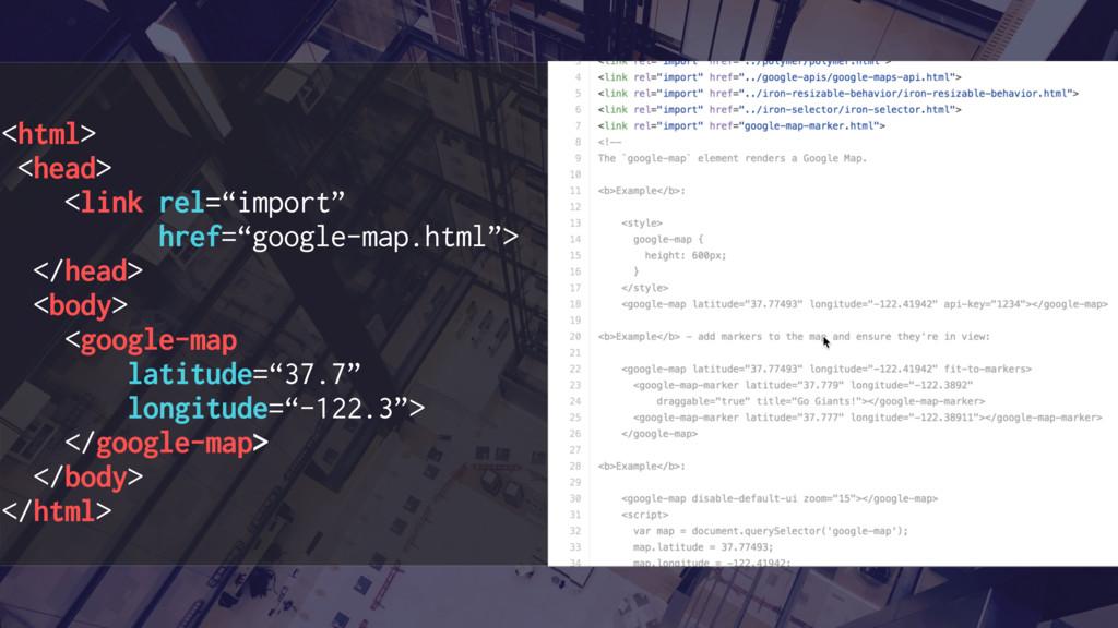 "<html> <head> <link rel=""import"" href=""google-m..."