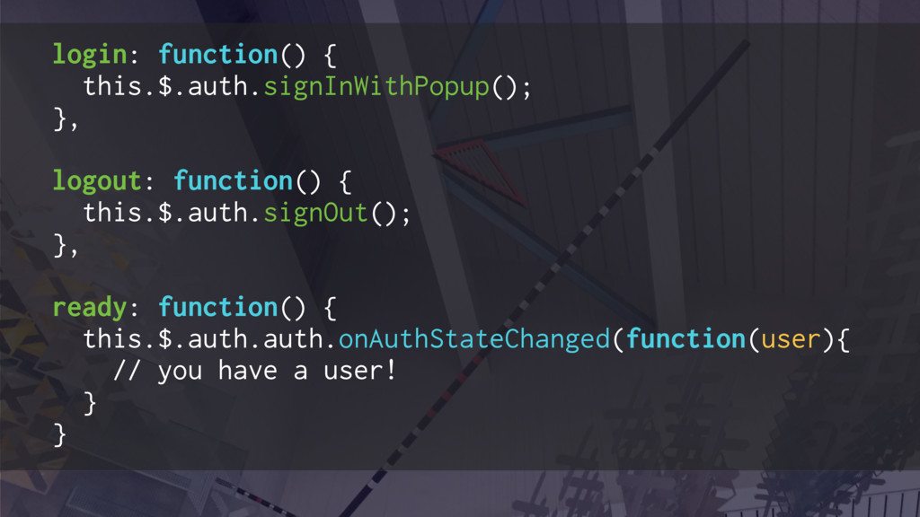 login: function() { this.$.auth.signInWithPopup...